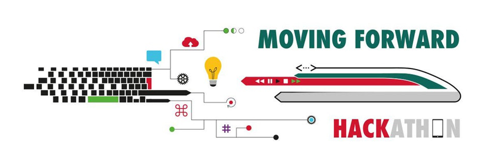 Grafica: logo evento Hackathon Moving Forward di Trenitalia